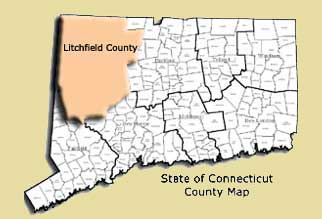 Map of Litchfield County